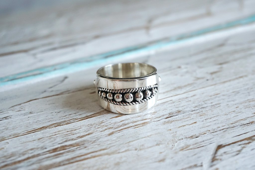 women's sterling silver statement ring boho chic handmade bohemian jewelry kemmi collection