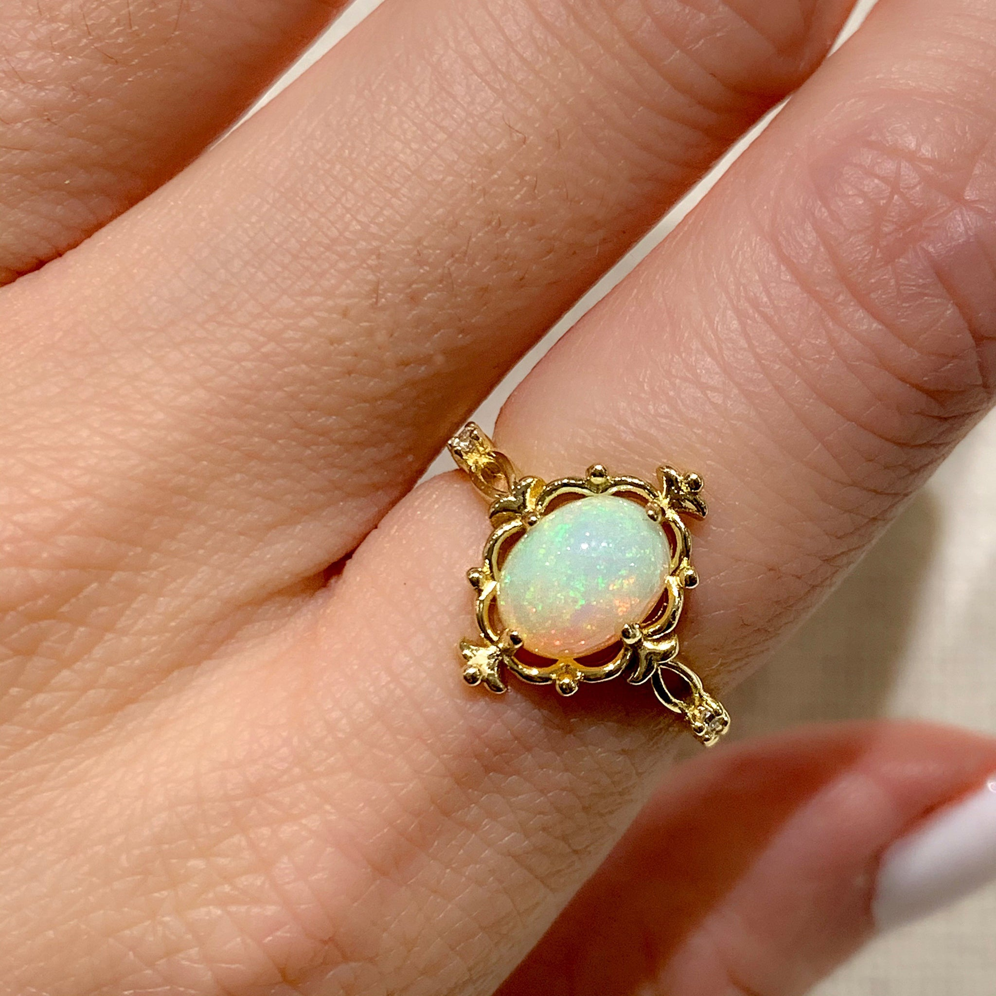 Yellow Gold Ophelia Opal Ring