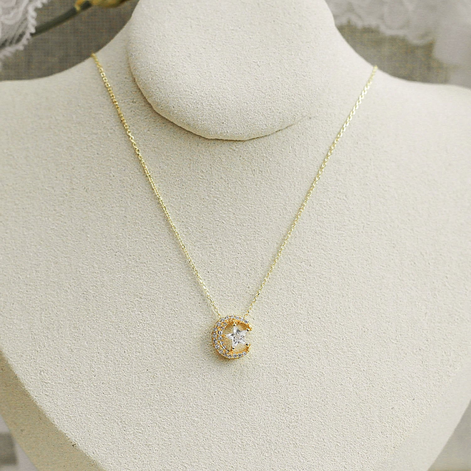 Gold The One CZ Necklace