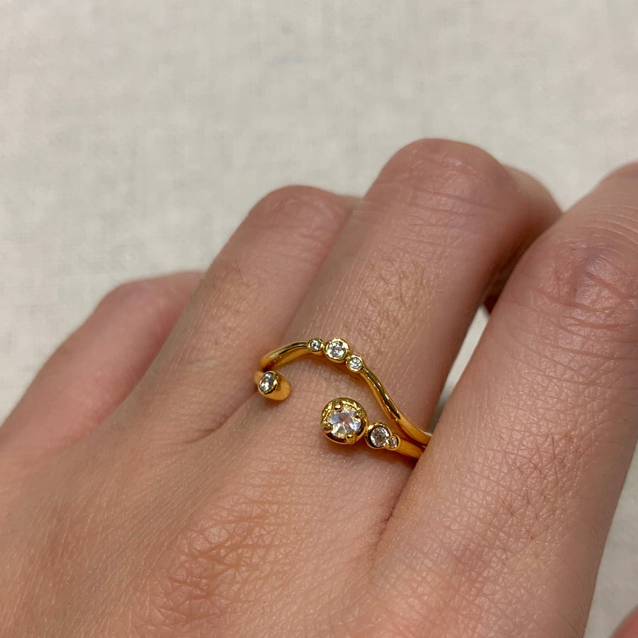 Yellow Gold Aria White CZ Ring