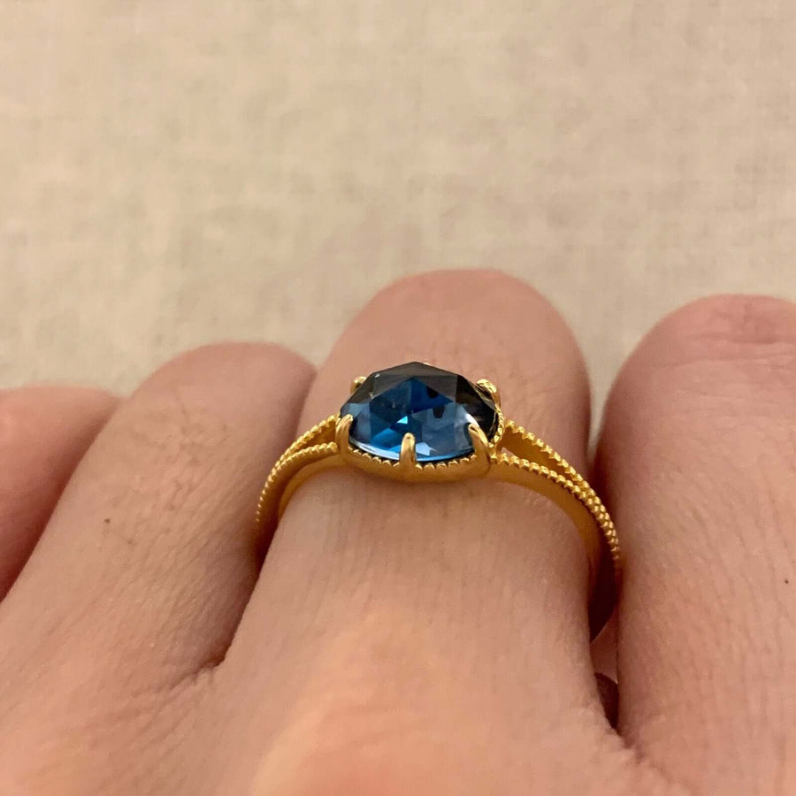 Yellow Gold Chandra London B. Topaz Ring