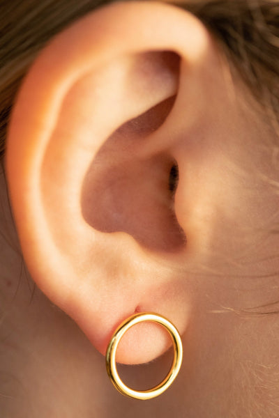 Gold Cercle of Life Earrings