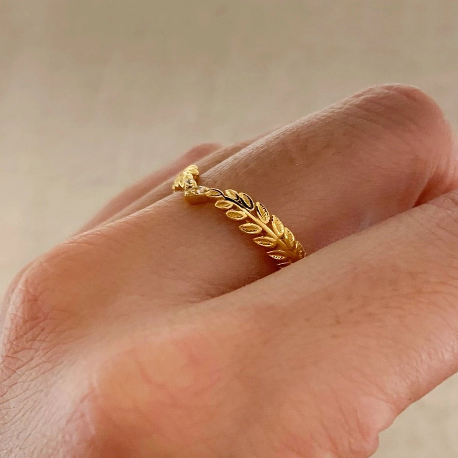 Yellow Gold Haven White  CZ Ring