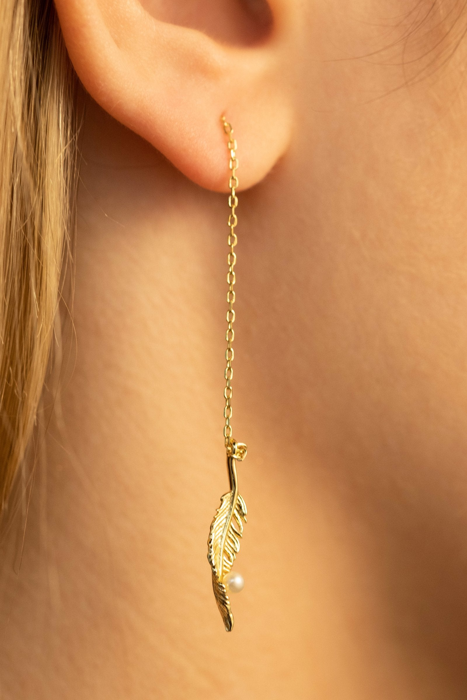 Gold Orphée Pearl Earrings