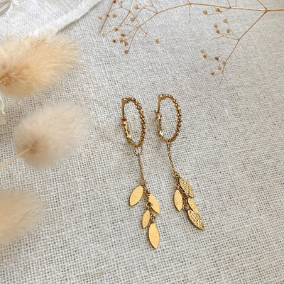 Yellow Gold Serina Earrings