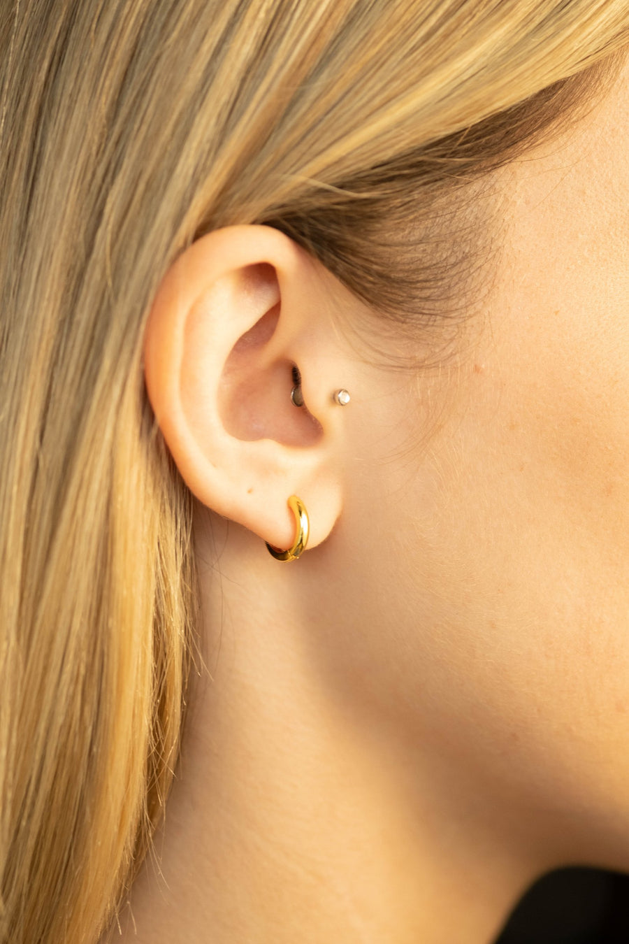 Gold Small Hoops Earrings