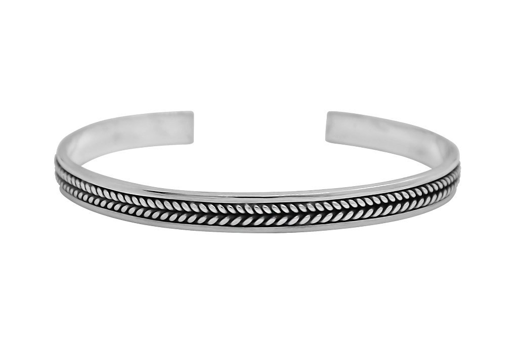 men's sterling silver cuff bangle bracelet handmade modern accessory kemmi collection
