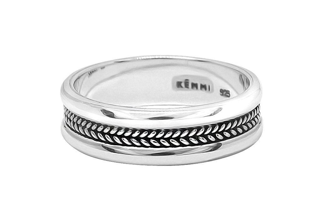 ring sterling silver men's everyday ring style modern jewelry kemmi Collcetion