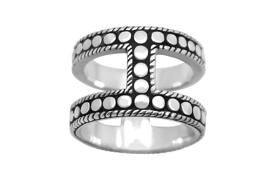 handmade solid sterling silver ring statement style oxidized classic kemmi collection
