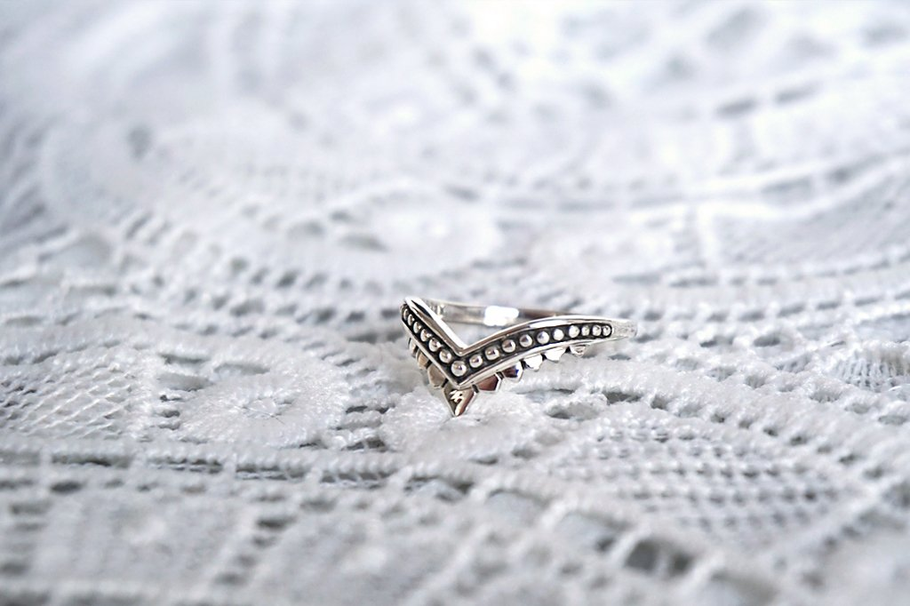 sterling silver ring boho feather style bohemian stackable gypsy kemmi collection