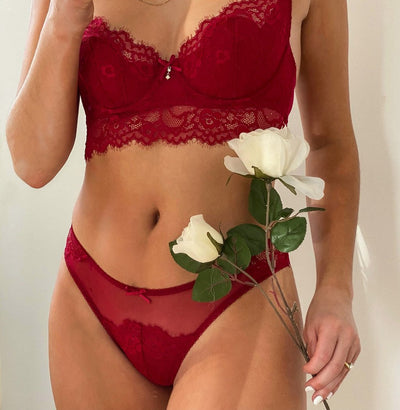 Lingerie Evelyn Red Bra