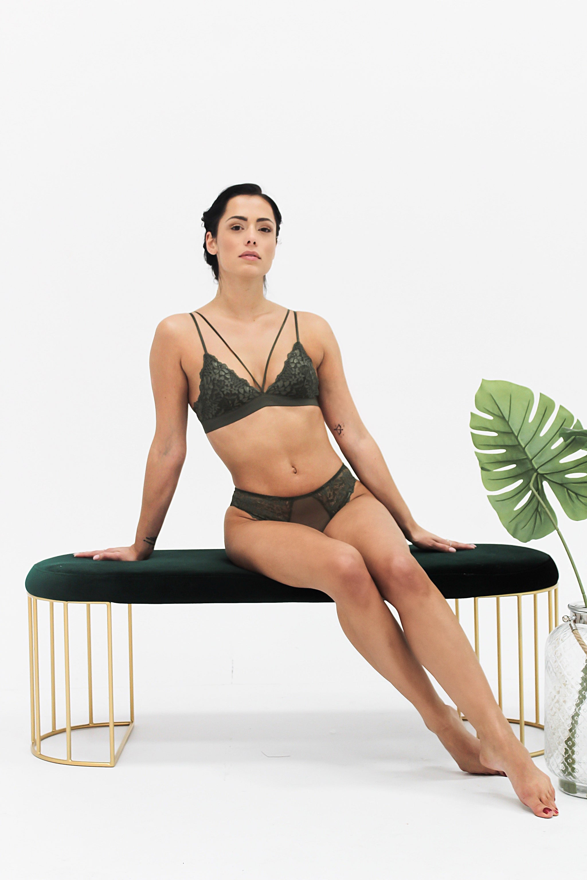Lingerie Waverly Olive Bottom