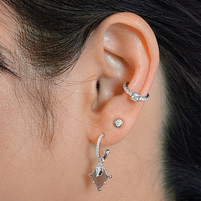 Rey Pavé Stud Earrings