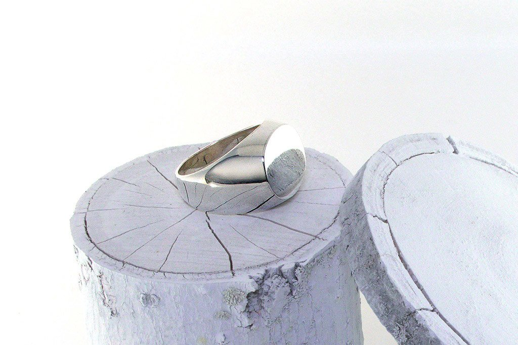 men's sterling silver ring signet style modern polished jewelry fashion handmade kemmi collection