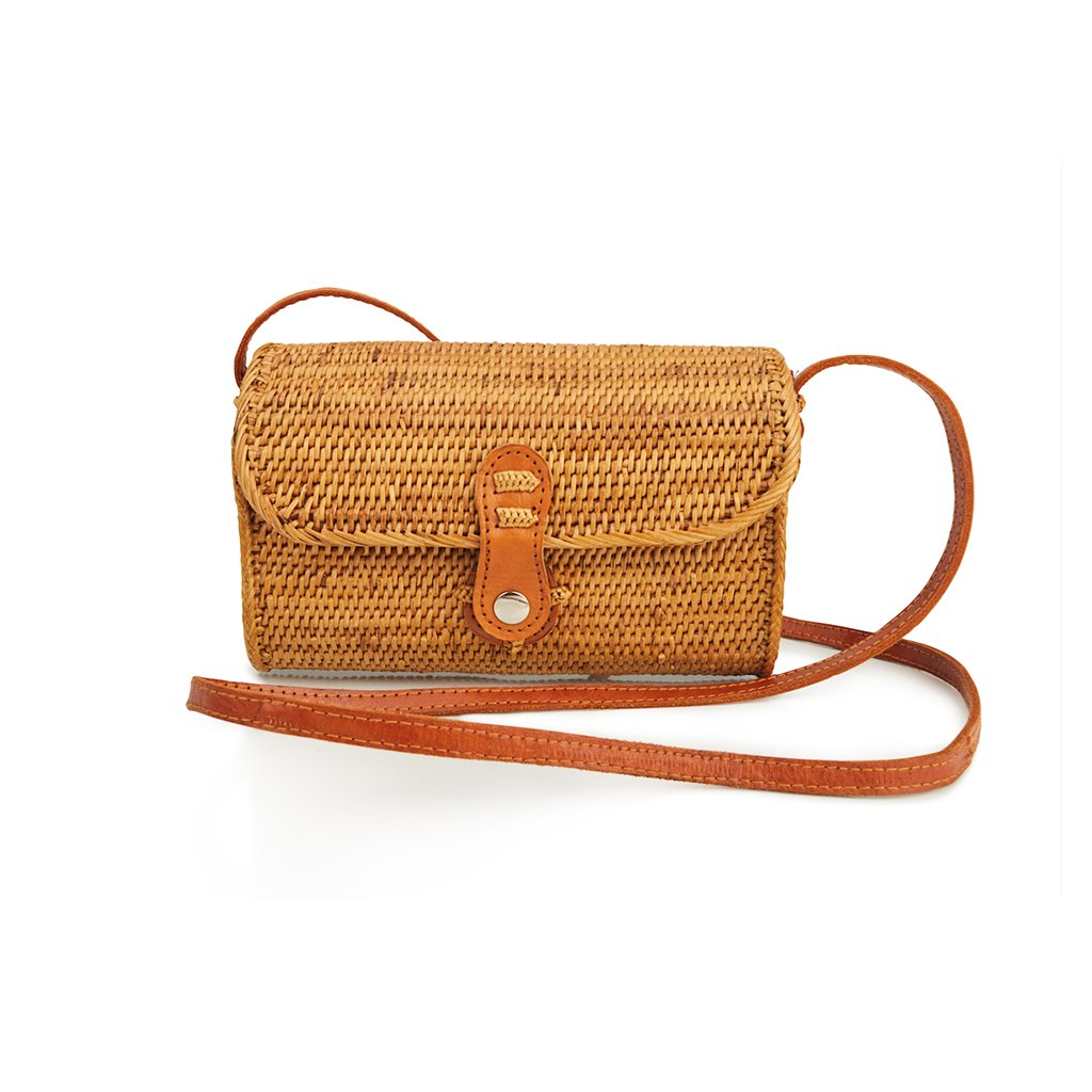 Messenger Natural Straw Bag