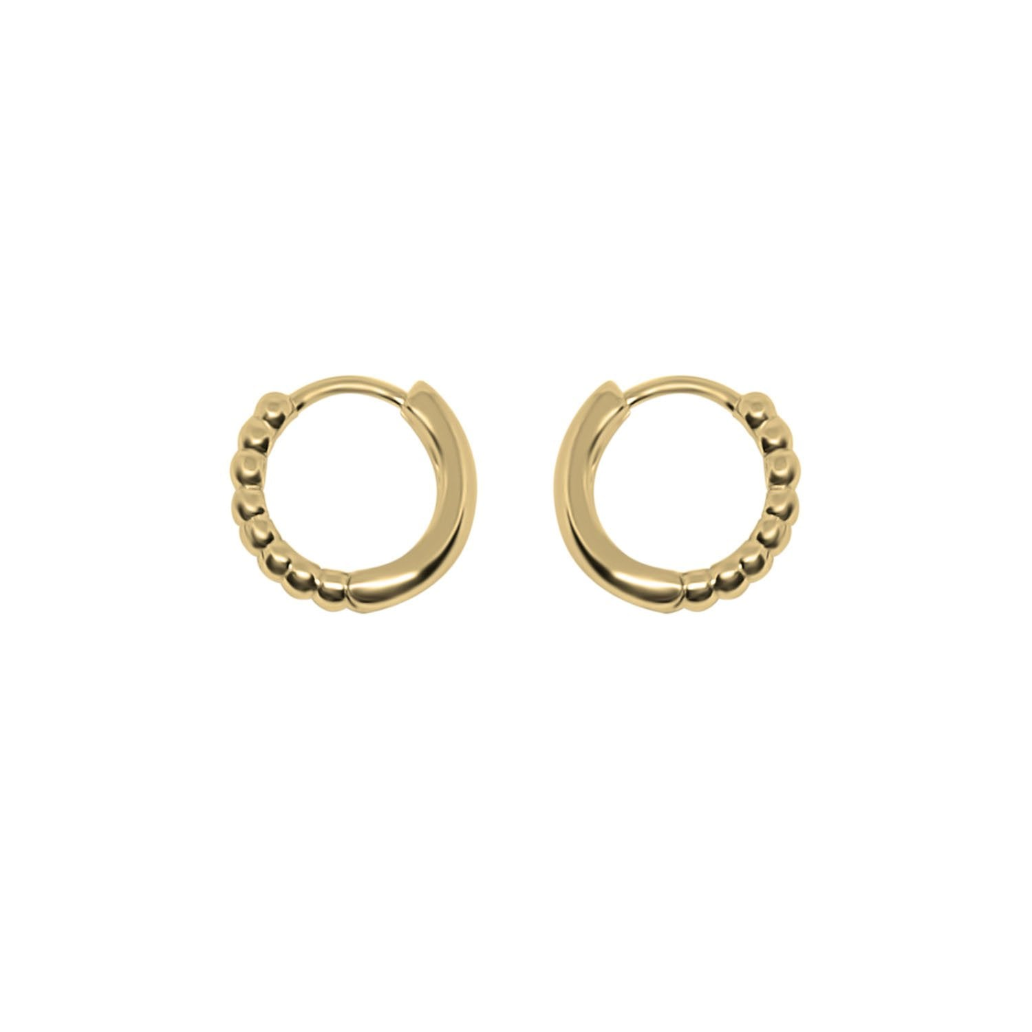 Gold Mila Hoops Earrings