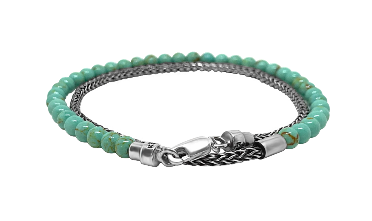 sterling silver double wrap bracelet arizona jade beads lobster clasp accessory kemmi collection
