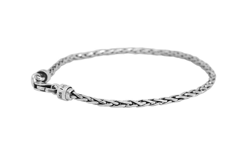 sterling silver thin bracelet men's every modern style jewelry kemmi collection
