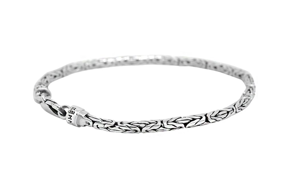 men's sterling silver thin bracelet everyday style modern accessory kemmi collection