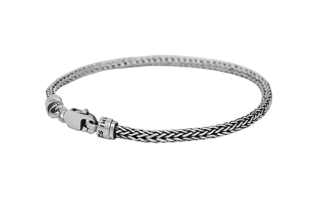 men's thin sterling silver bracelet modern everyday style accessory kemmi collection
