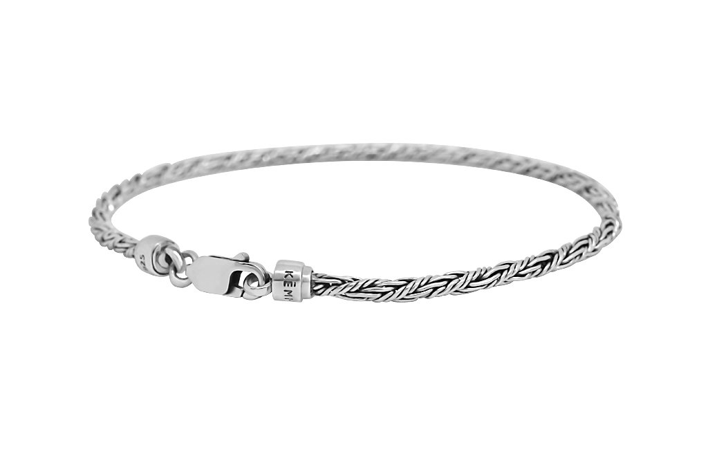 men's thin bracelet sterling silver modern every day style jewelry kemmi collection