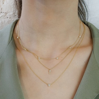 14k gold vermeil dainty layered style necklaces cubic zirconia kemmi jewelry elegant boho chic