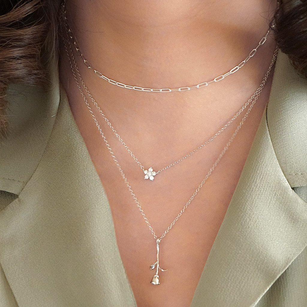 sterling silver necklaces layered style dainty small boho chic elegant jewelry kemmi collection