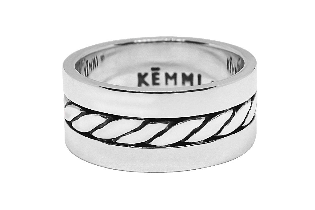 men's sterling silver ring handmade modern style accessory kemmi collection