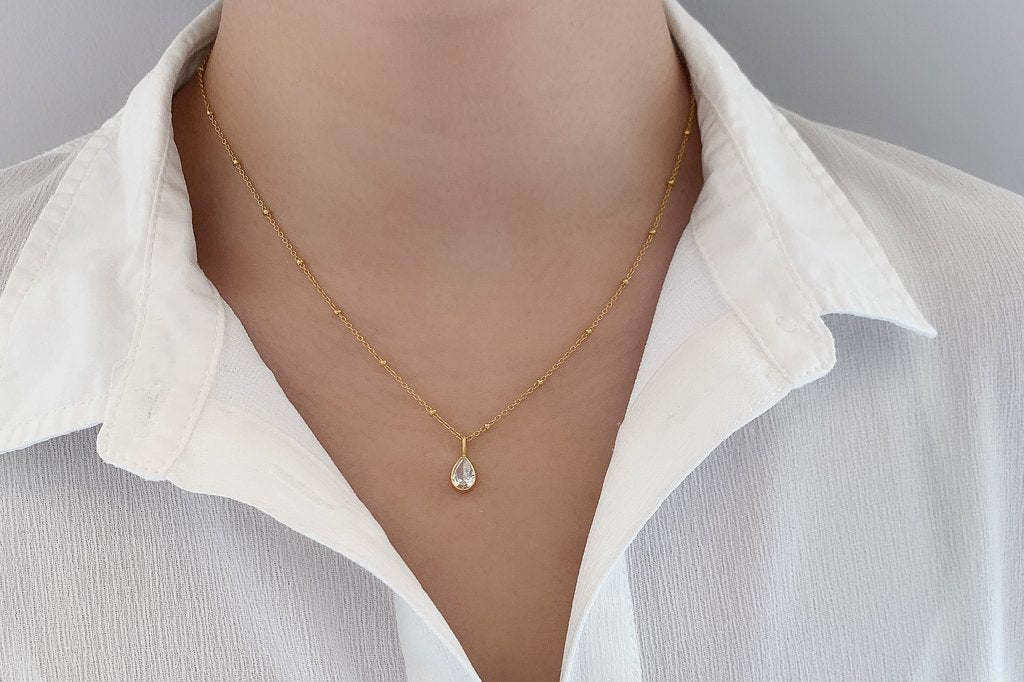 Yellow Gold Satellite Adjustable Necklace