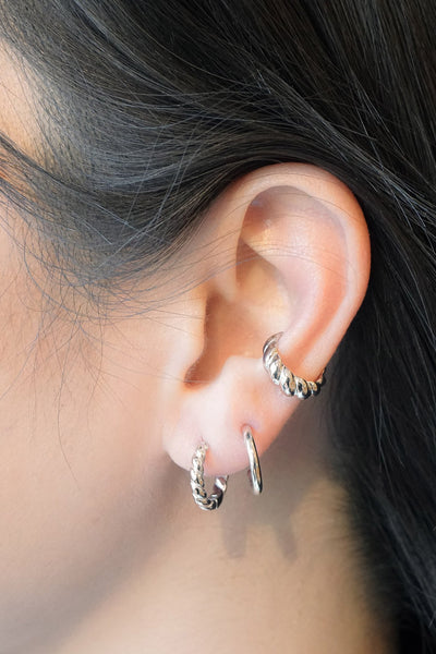 Tube Stud Hoops