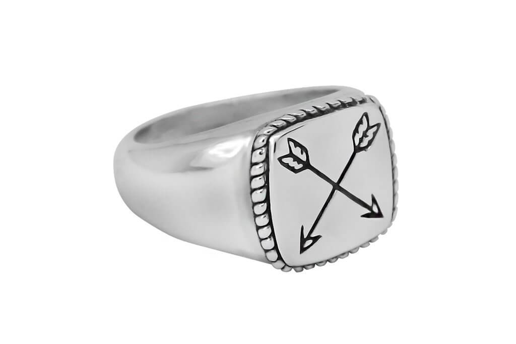Men's sterling silver ring arrows modern fashion jewelry Kemmi Collection