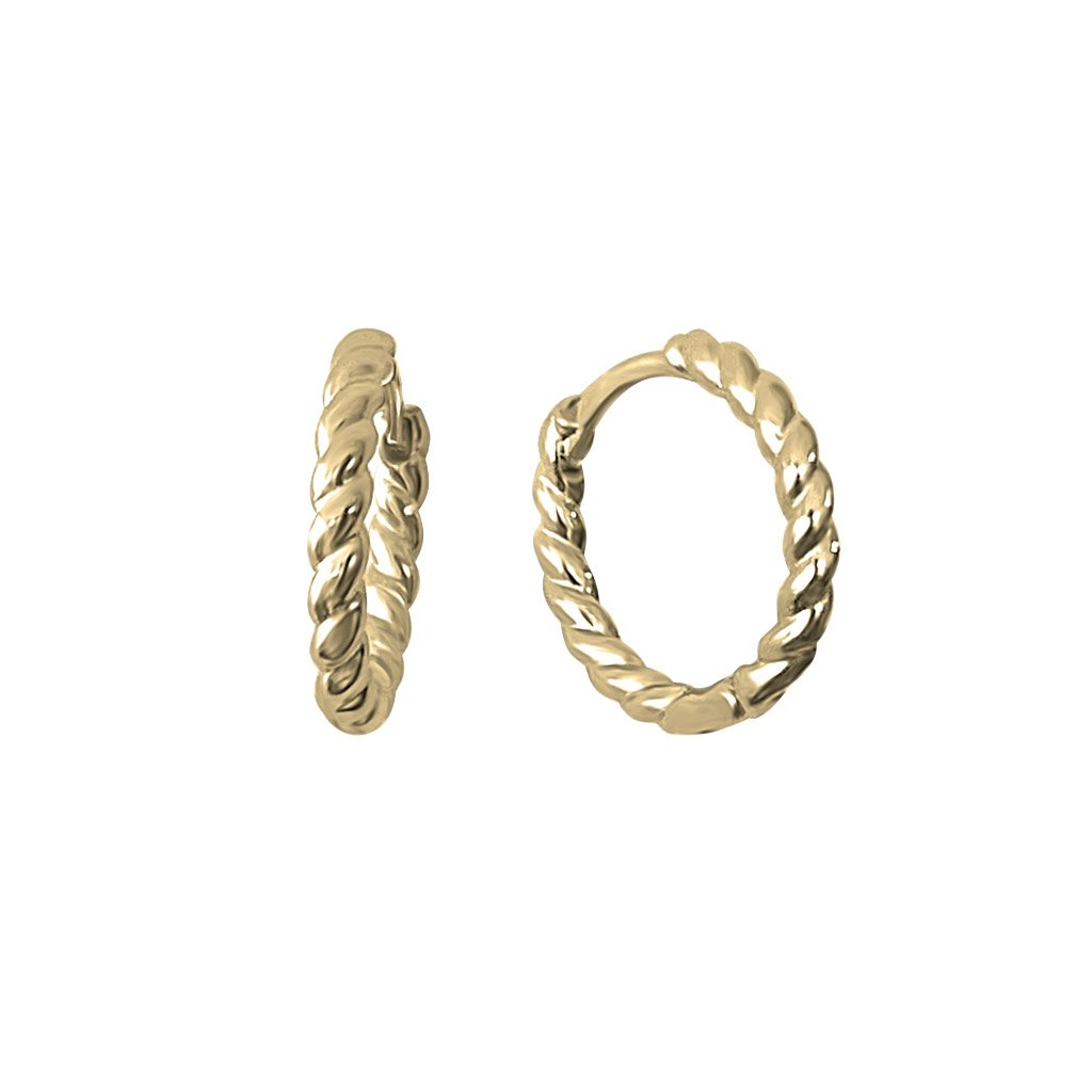 14k gold vermeil twist hoop earrings kemmi jewelry boho chic classic style