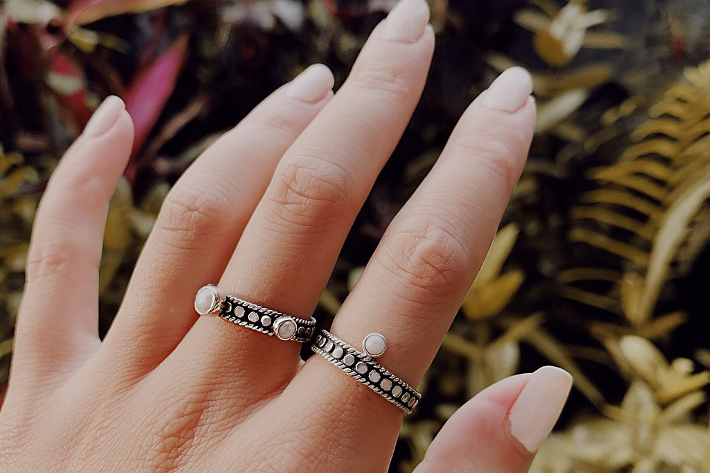 handmade sterling silver rings bohemian boho chic style kemmi collection