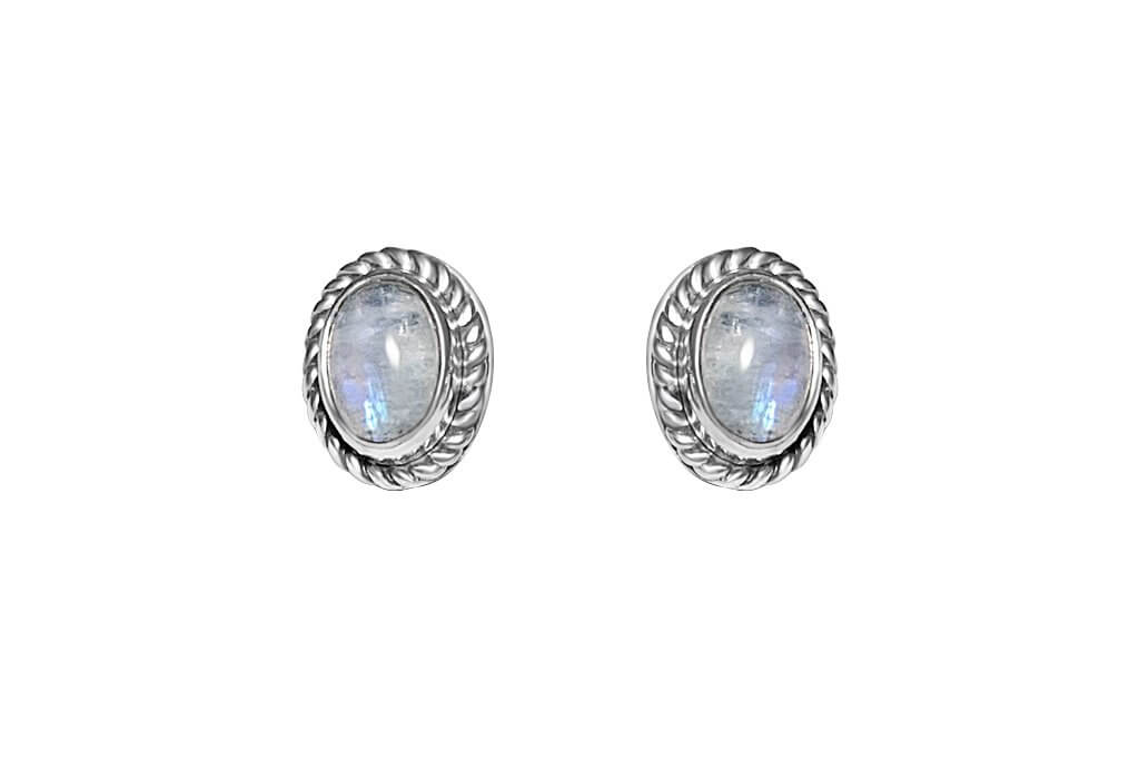 women's sterling silver stud earrings oval moonstones jewelry kemmi collection