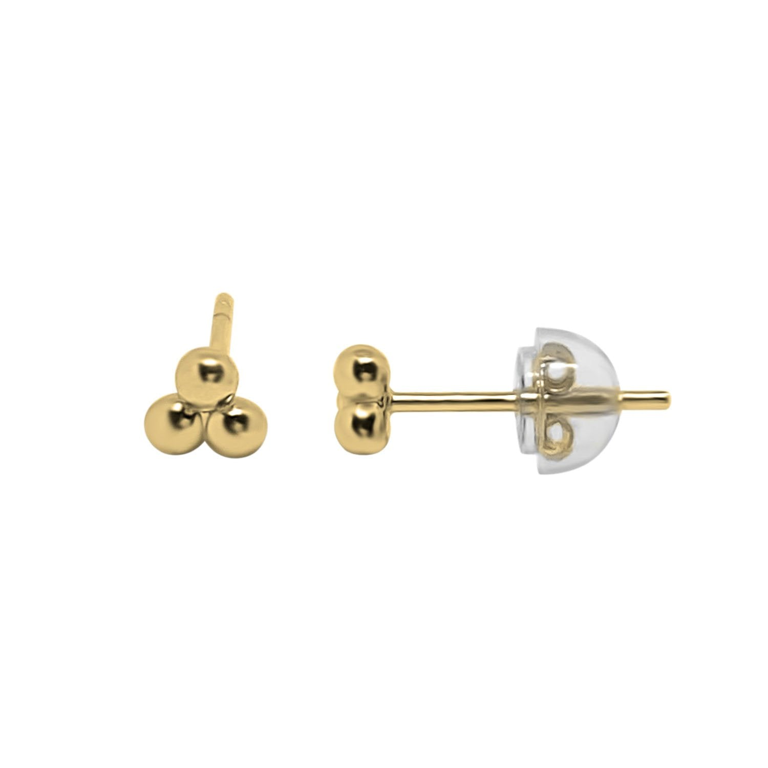 Gold Triple Dot Studs Earrings
