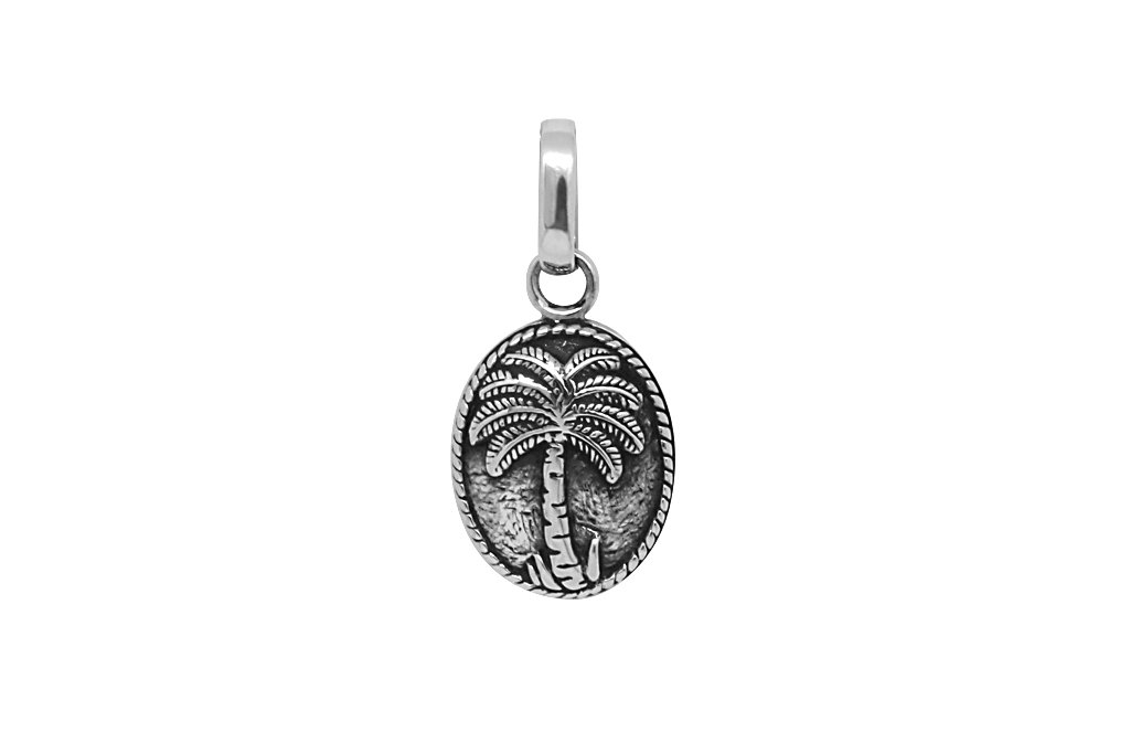 Men's Silver Palm Tree Pendant