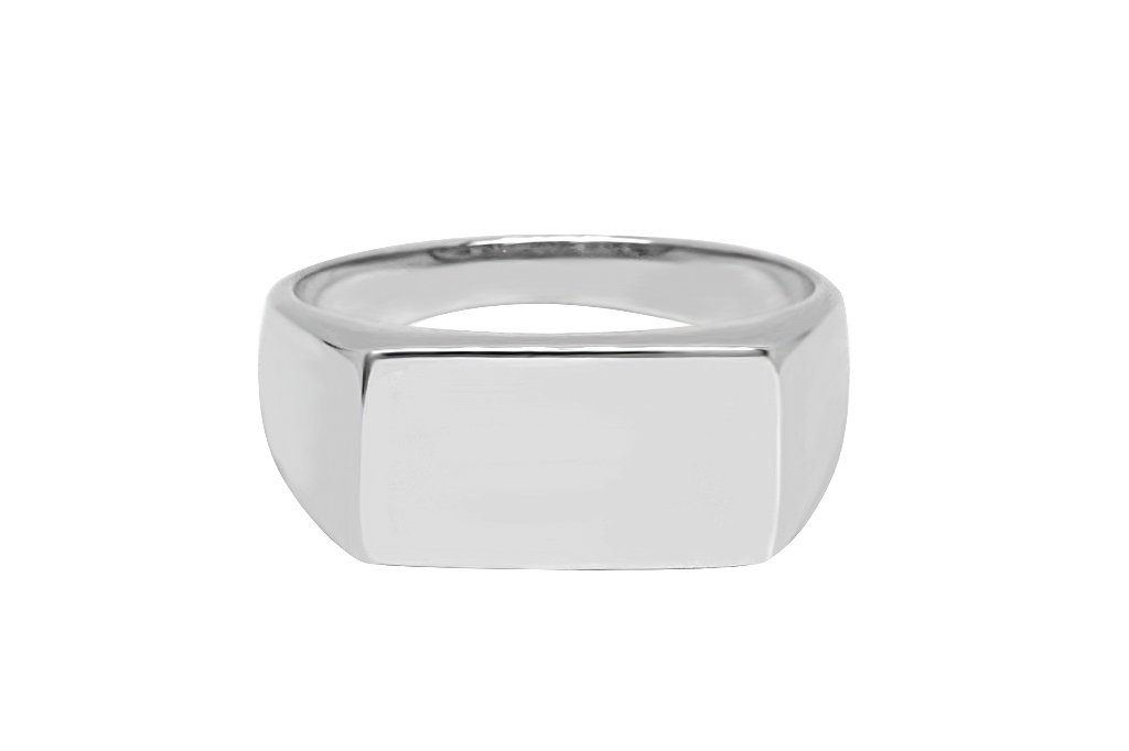 Men's Silver Flat Top Ring