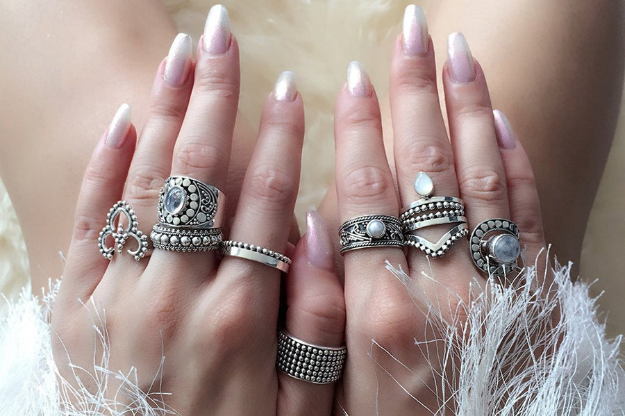 women's sterling silver ring handmade bohemian boho gypsy hippie stackable midi ring jewelry kemmi collection