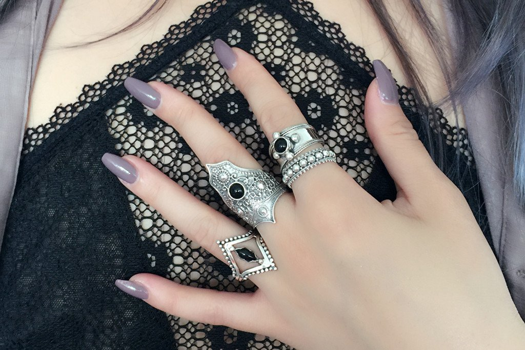 sterling silver ring black onyx stone women handmade boho bohemian kemmi collection