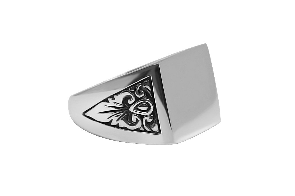 Men's Silver Signet Barocco Ring