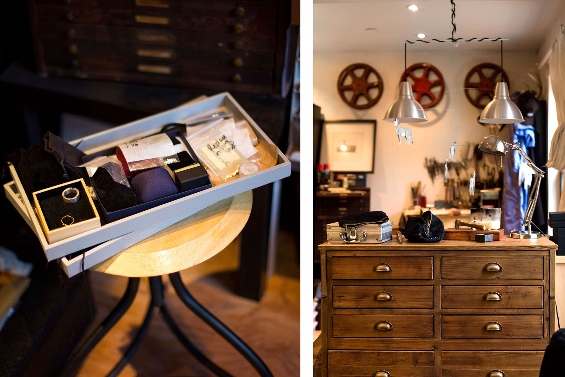 Interior shots of jeweler, Blair Lauren Brown's studio