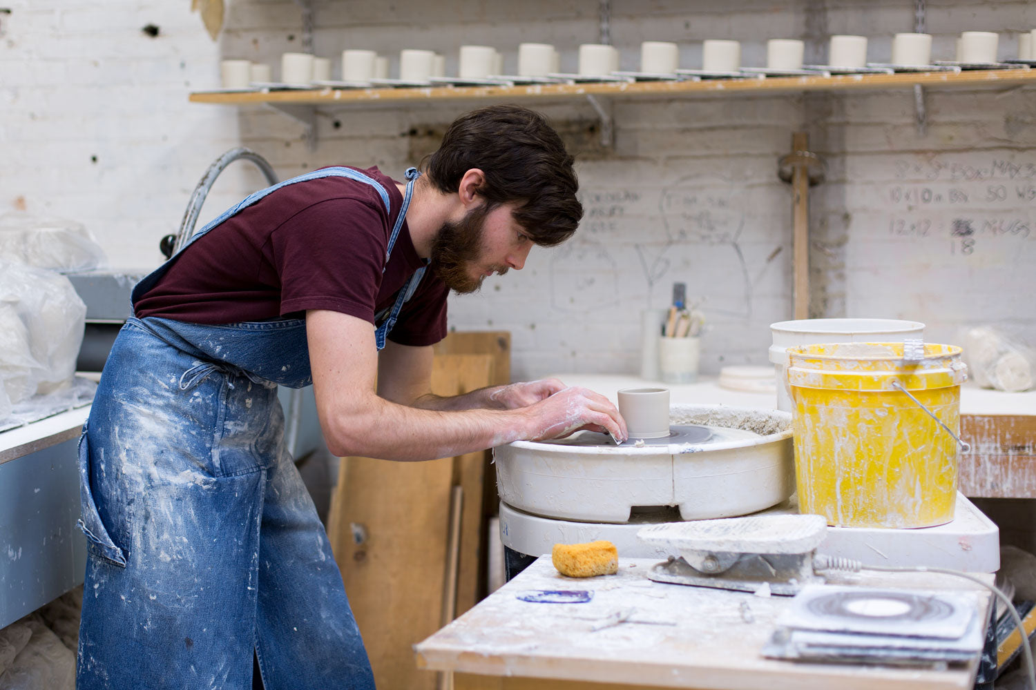 in the studio with skt ceramics - throwing pots on the pottery wheel