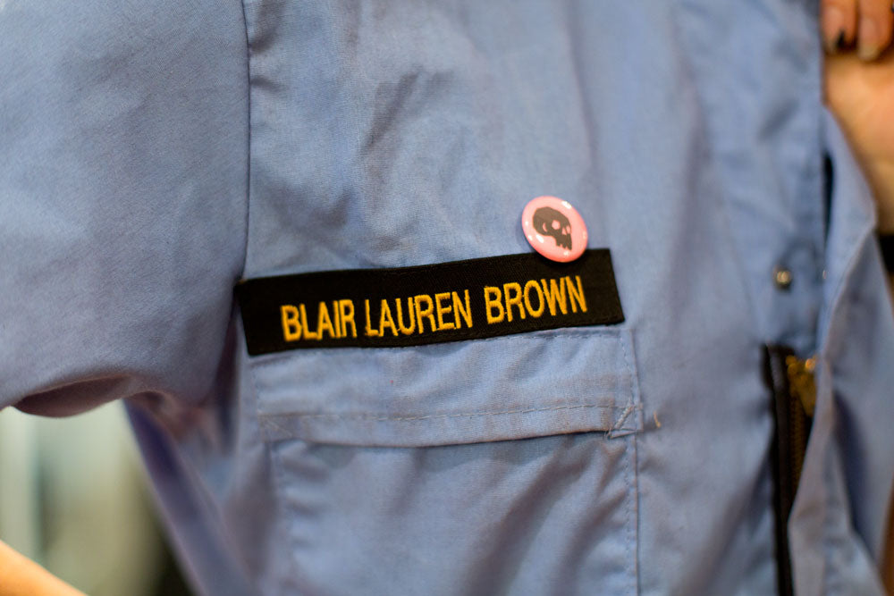 Blair Lauren Brown's working jumpsuit