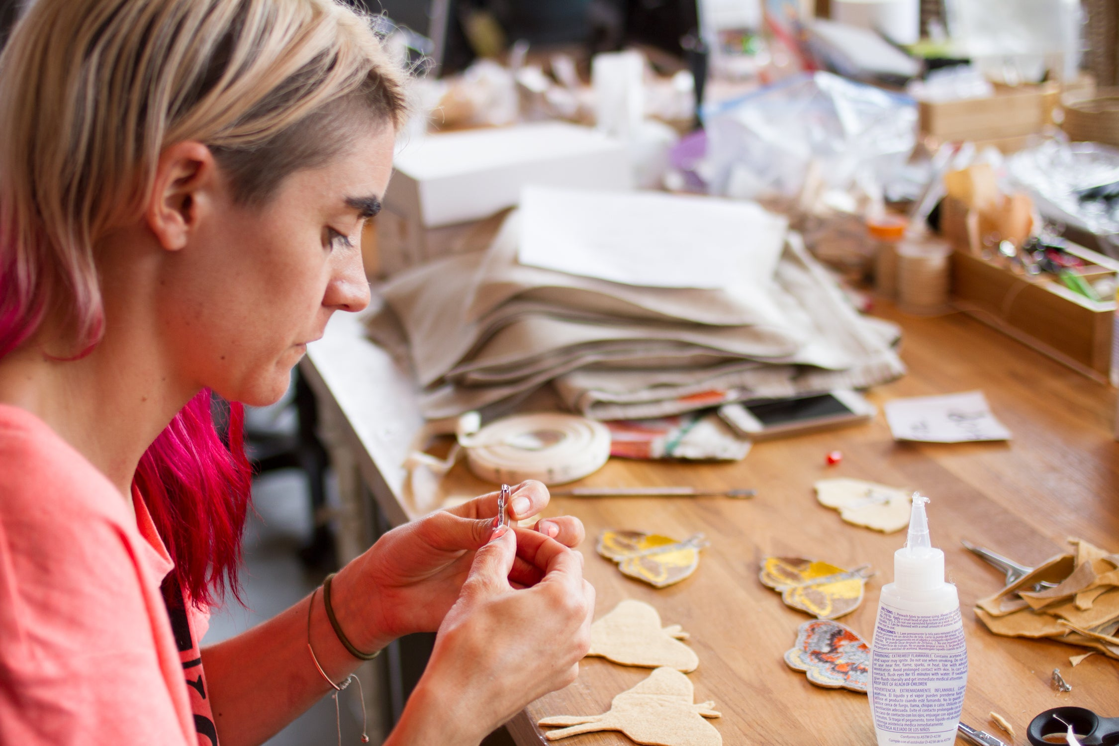 Making patches in the coral & tusk studio | k colette