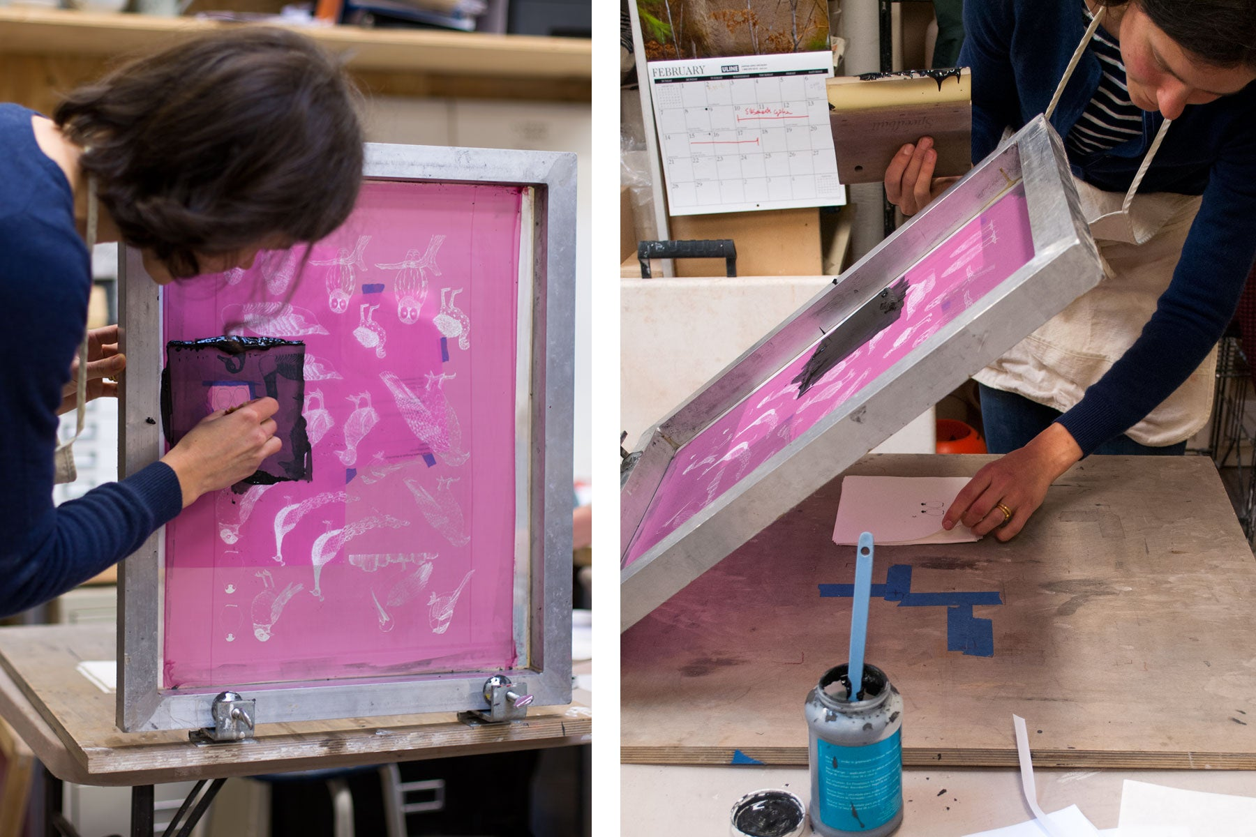in the studio with skt ceramics - screenprinting