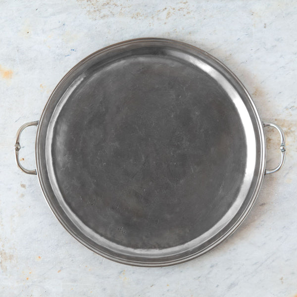 round pewter serving tray-kitchen & dining - serveware-match-Default-k colette