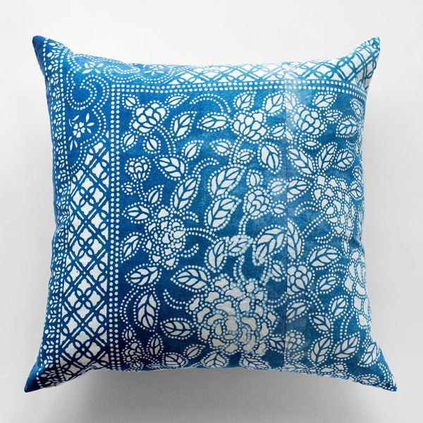 vintage dot floral pillow-bed & bath - decor - pillows - vintage textiles-luru home-k colette