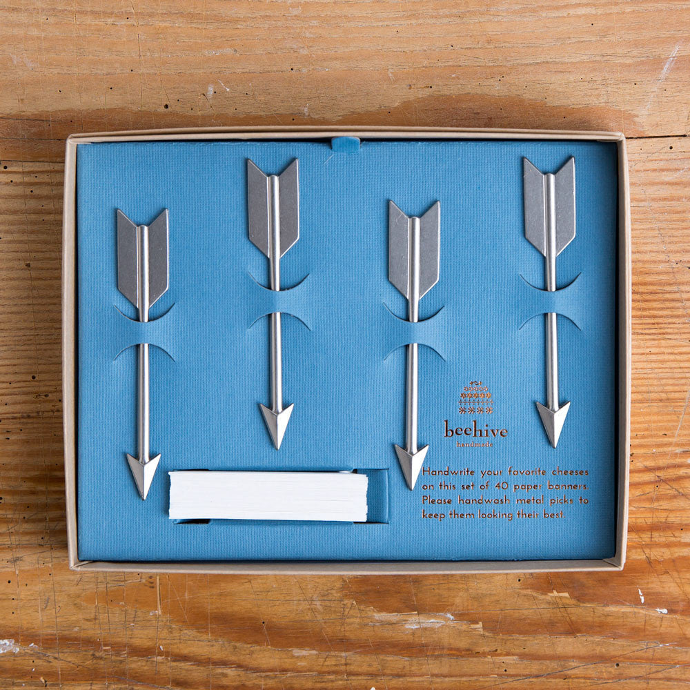 arrow cheese marker set-kitchen & dining - serveware-beehive handmade-nickel-k colette