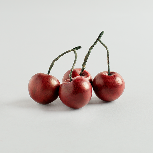 dark red marble cherries-art & decor - objets - ooak-laurent trade & design-k colette