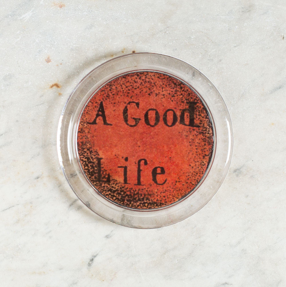fruits of life: a good life bottle coaster-kitchen & dining - bar & drinkware-john derian-k colette